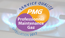 label Professionnel maintenance gaz