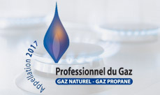 label Professionnel du gaz